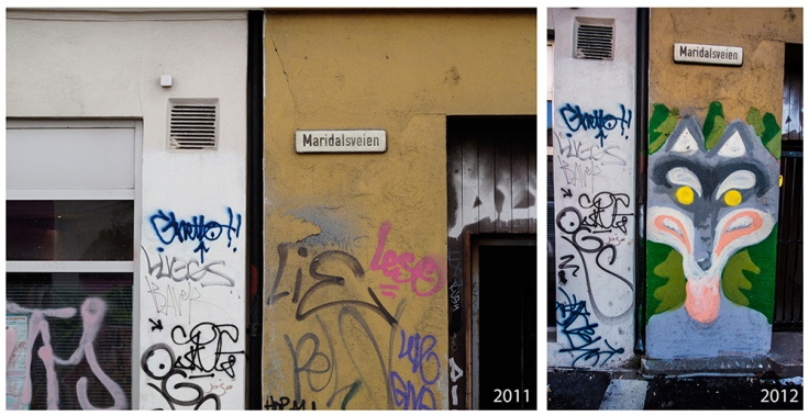 Graffiti i Maridalsveien, Oslo