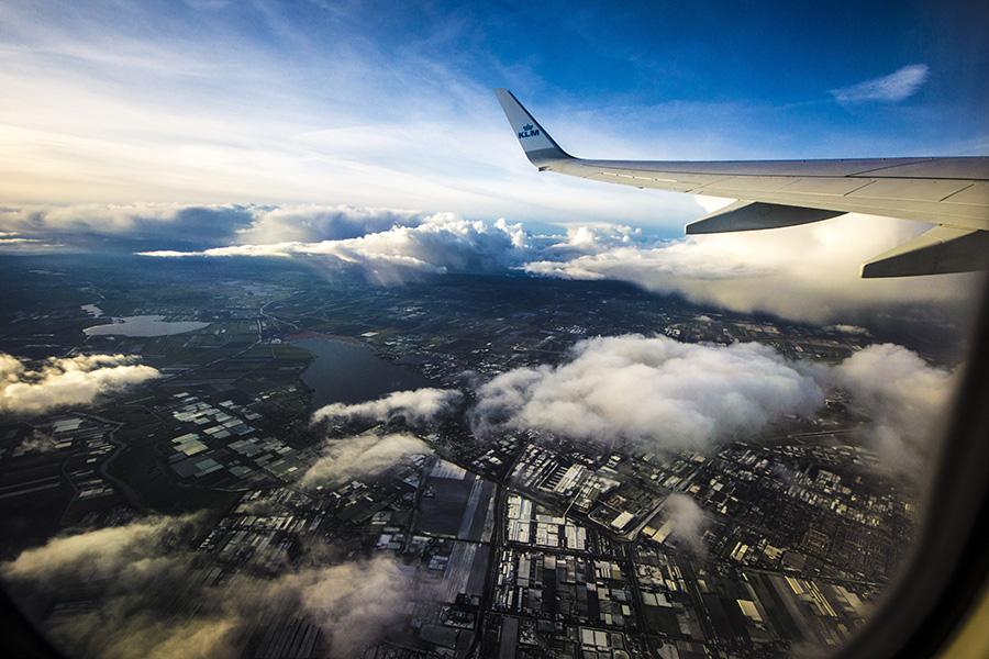 Flying from Amsterdam - my vew, by ks3nia
