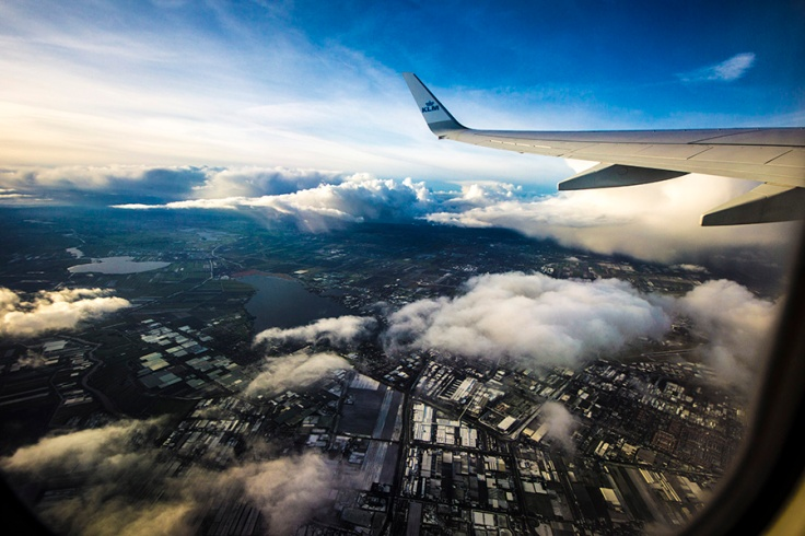 Flying from Amsterdam - my vew, by ks3nia