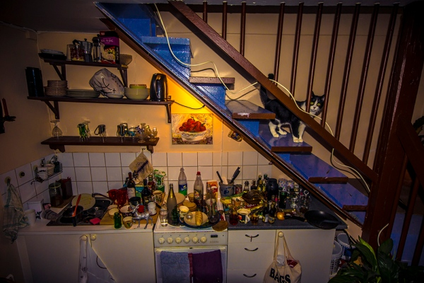 The morning after, Messy kitchen after party