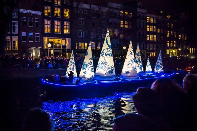 Boat parade - Amsterdam Light Festival