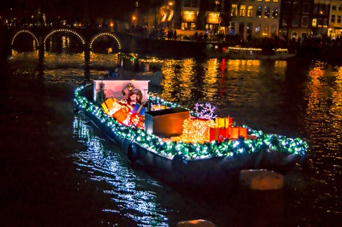 Santa is cruising the canals
