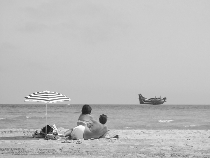 Couple on the Perfect Beach, Corsica, vacation 2011