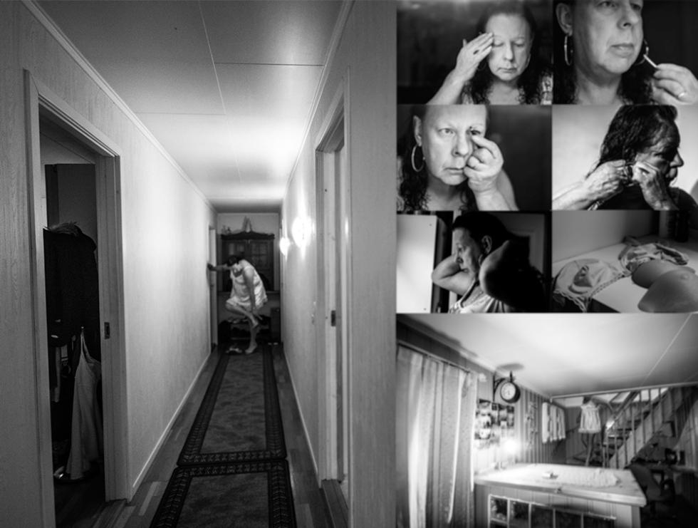 Transvestite, photo collage
