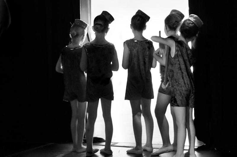 Dancers behind the scenes