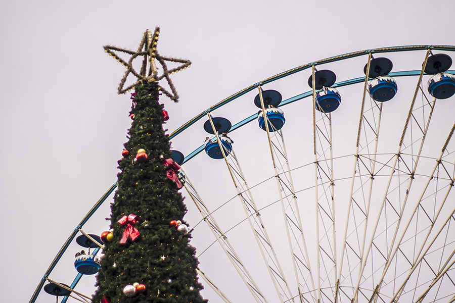 Christmas tree in Lille