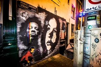 Graffiti in Amsterdam - night