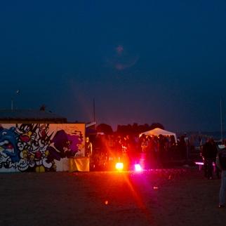 Graffiti in Amsterdam - beach