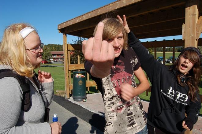Three crazy school friends