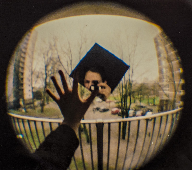 my view- selfportrait shot with baby fisheye