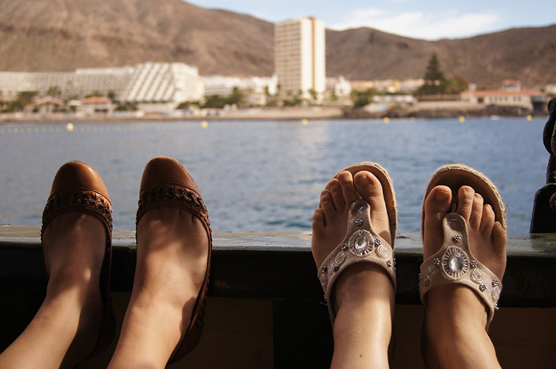 feet on sunny vacation - tenerife - 2012