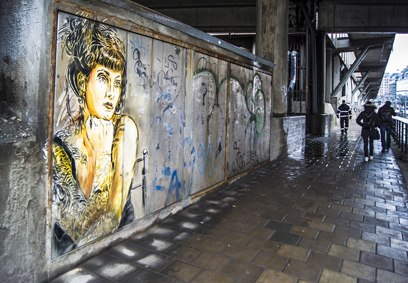 graffiti on a wall Oslo