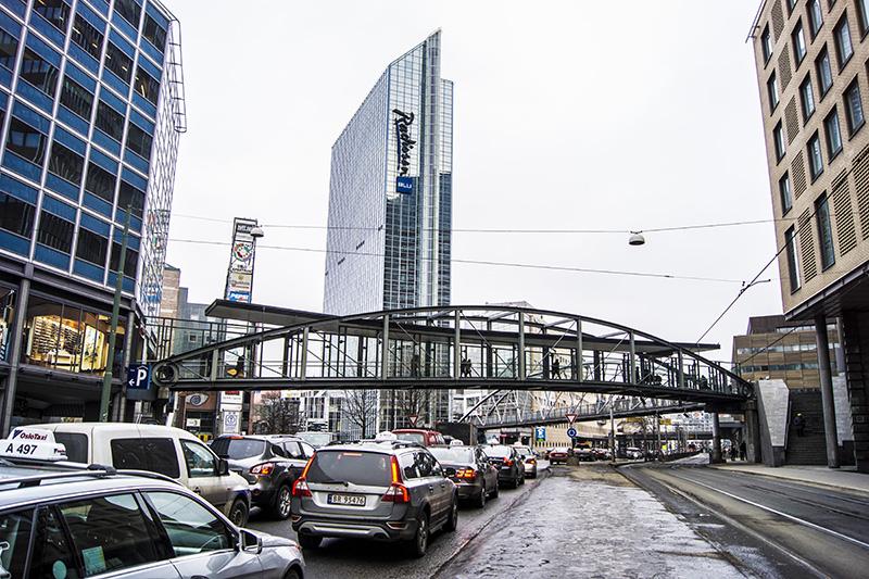 Oslo winter traffic
