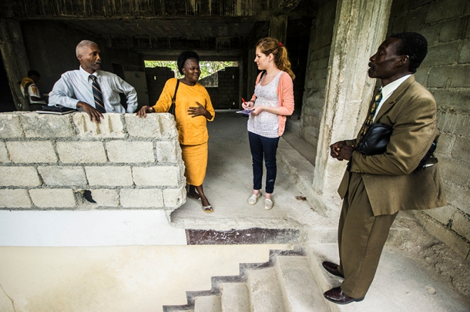 Caroline visits Adventist Church in Haiti