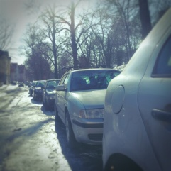 Oslo cars lined up