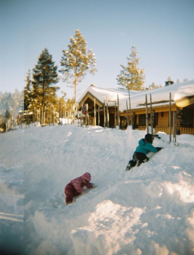 children enjoying the snow - Dombås, Norway 2013