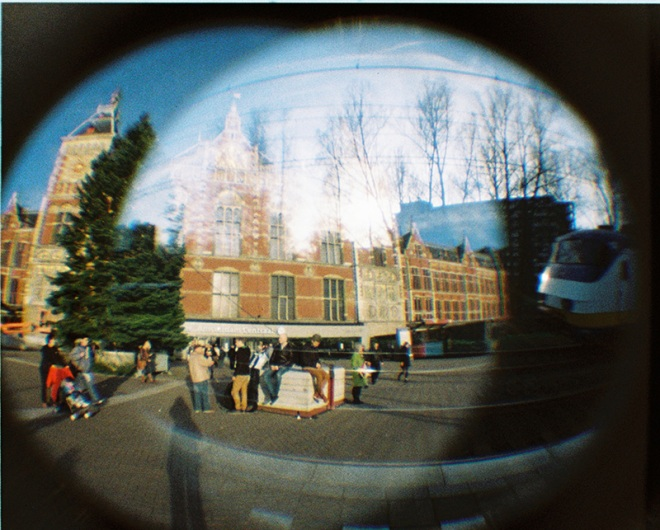 Amsterdam Central Station - Double Exposure