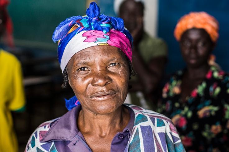 Smiling Woman in Haiti - Palmes region