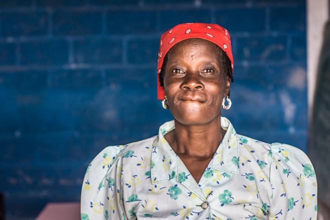 Beautiful Haitian woman