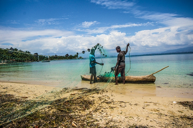 fishermen, haiti, ile a vache