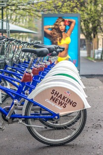 City bikes and Beyonce/H&M commercial