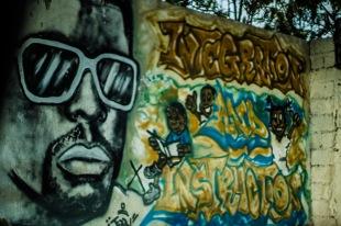 mural in haiti