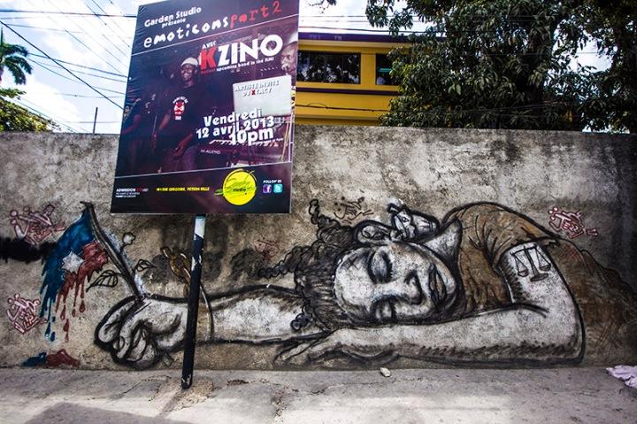 graffiti in haiti - petionville