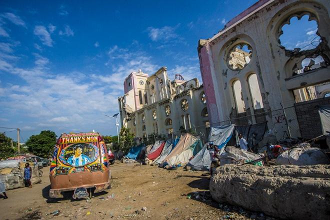 Port Au Prince Cathedral, ruins, Haiti