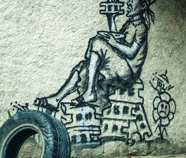 Graffiti in Haiti