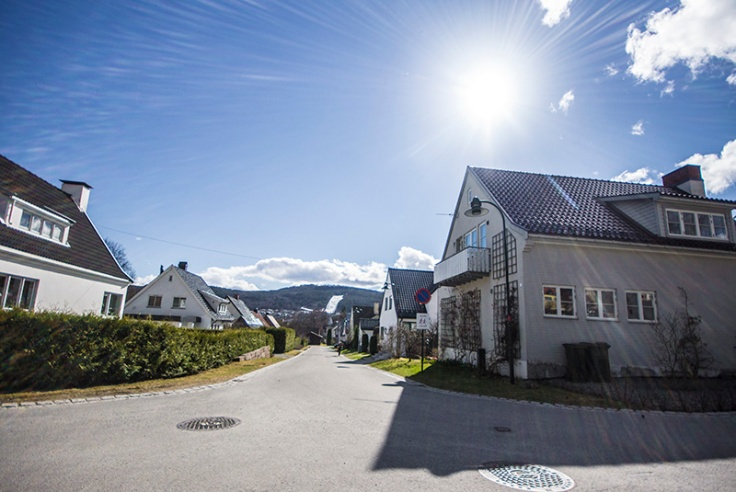 A neighborhood in Norway