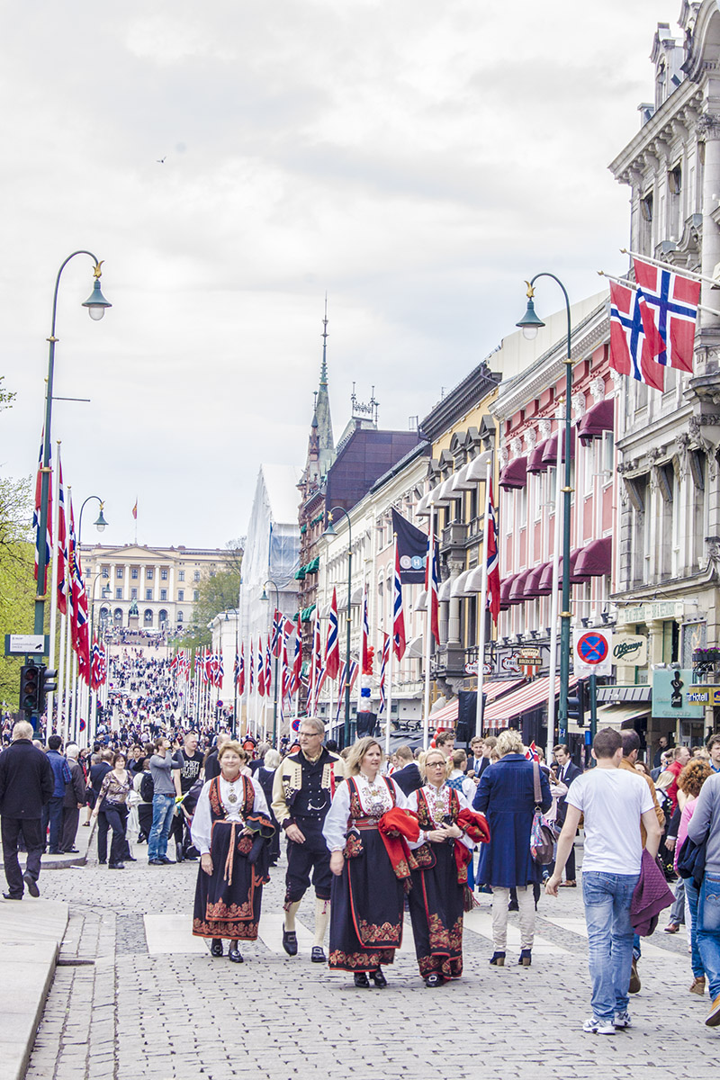 May 17th in Karl Johans gate - Oslo - Norwegian national day