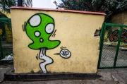 1-up graffiti in Cuba