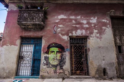 Cuban Che mural in Havana