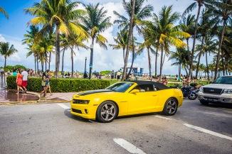 Shiny Car in Ocean Drive
