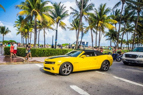 Shiny Car in Ocean Drive