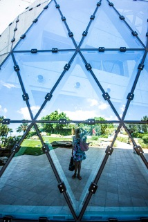 Photographer, Reflections in Dali Museum - St. Petersburg, Florida