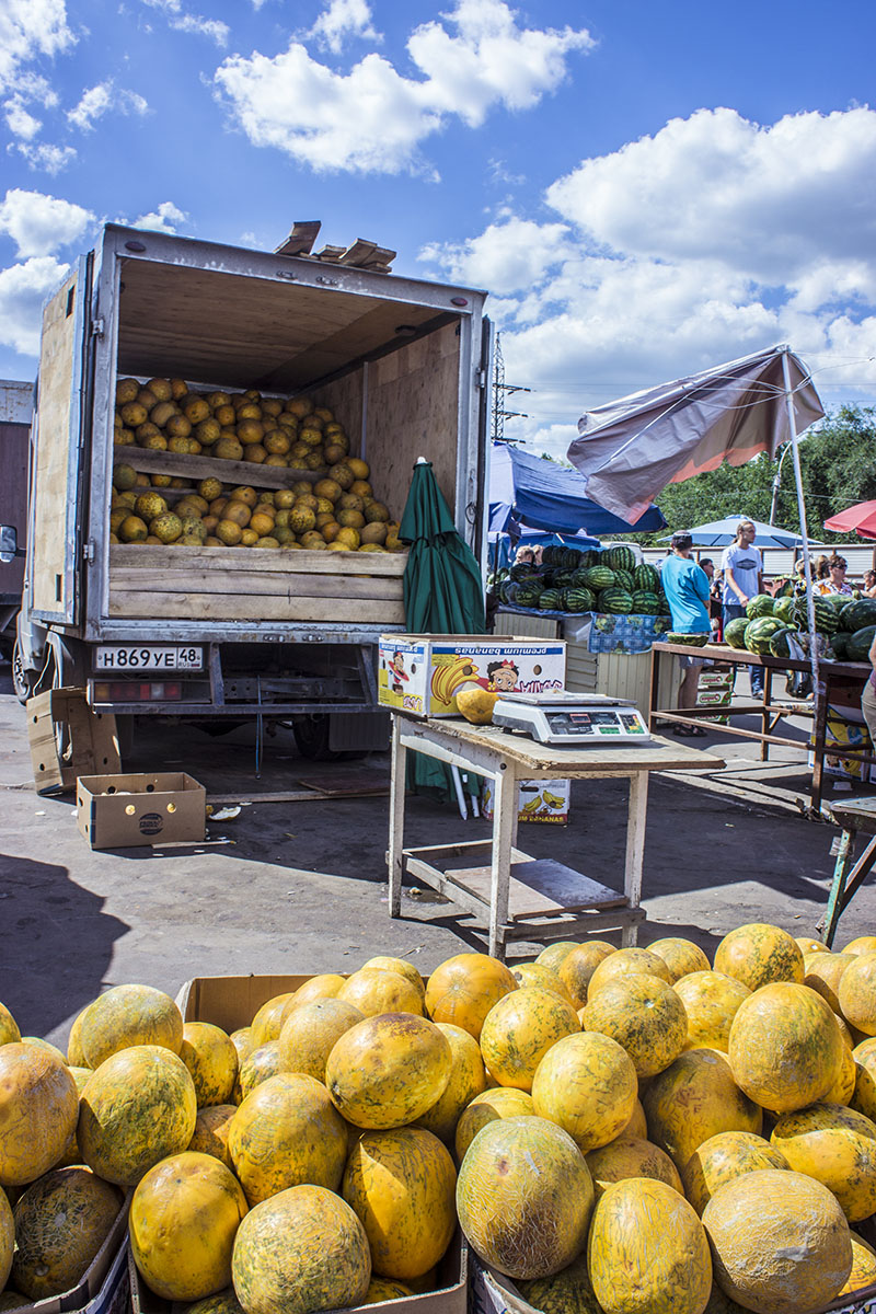 Melon Truck -  Central Market in Lipetsk
