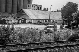 along the railroad