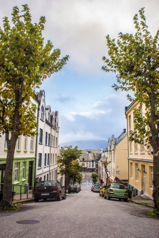 Ålesund street, autumn 2013 - Norway