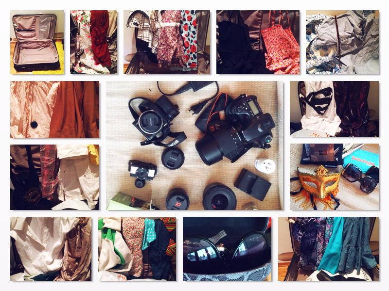 camera gear, sunglasses & clothes