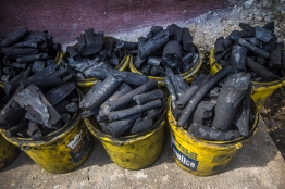 instead of electricity, there is charcoal!