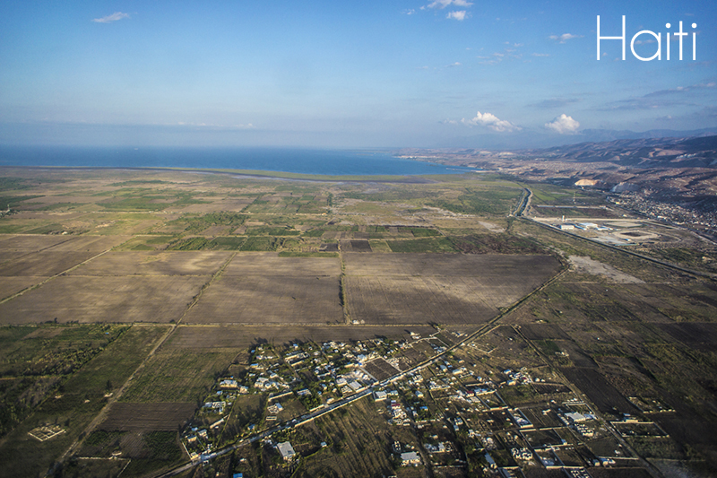 haiti helicopter view