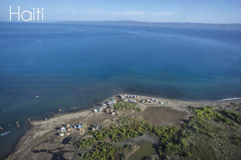 haiti bird view - beach