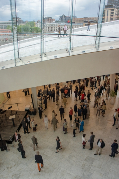 inside Oslo Opera House