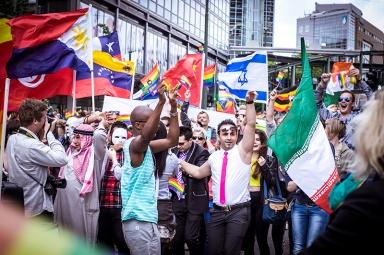 EuroPride Parade 2014 in Oslo