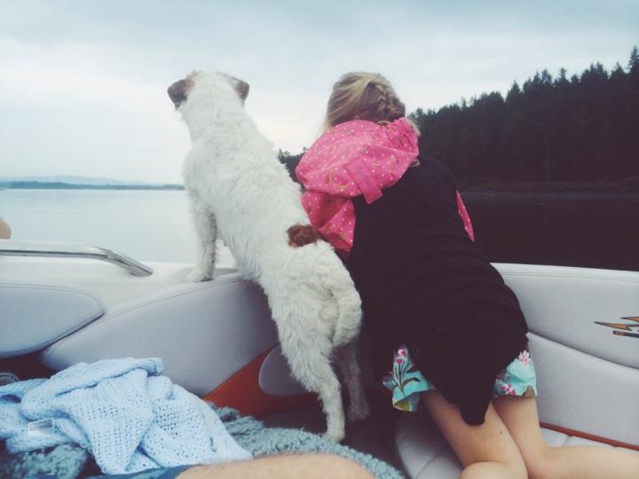 summer rain boattrip