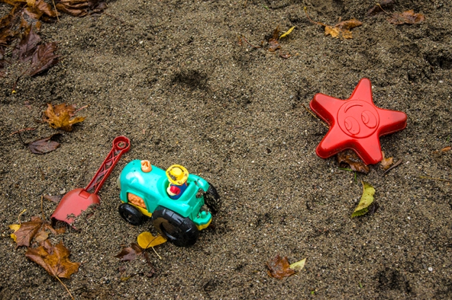 Toys in the rain