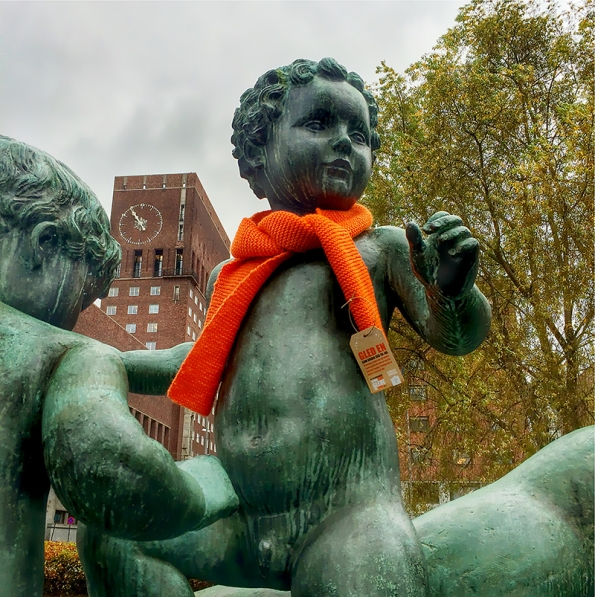 for a warmer society - orange scarf campaign