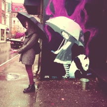 posing with graffiti/Bergen