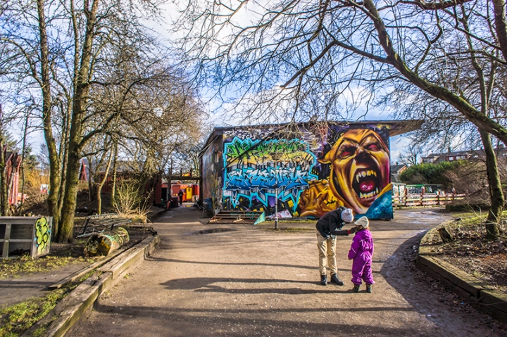 christiania denmark graffiti